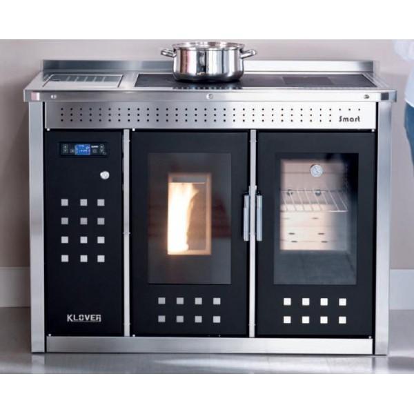 TERMOCUCINA A PELLET KLOVER SMART 120 INOX 22.36 KW