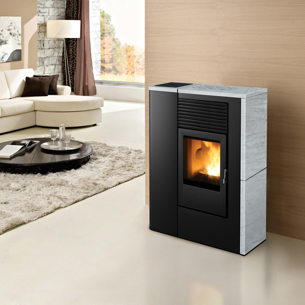 stufa a pellet mcz flair comfort air 8kw fuoco naturale