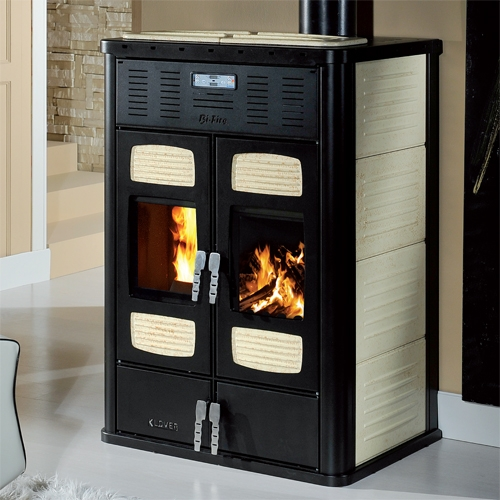 Klover bi fire 34 9 kw fuoco naturale - Stufe a pellet e legna combinate prezzi ...