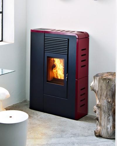Stufa a pellet mcz flat comfort air 8kw fuoco naturale - Stufa a pellet mcz prezzi ...