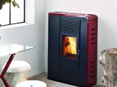 Stufa a pellet mcz flat comfort air 8kw fuoco naturale - Stufe a pellet idro mcz ...